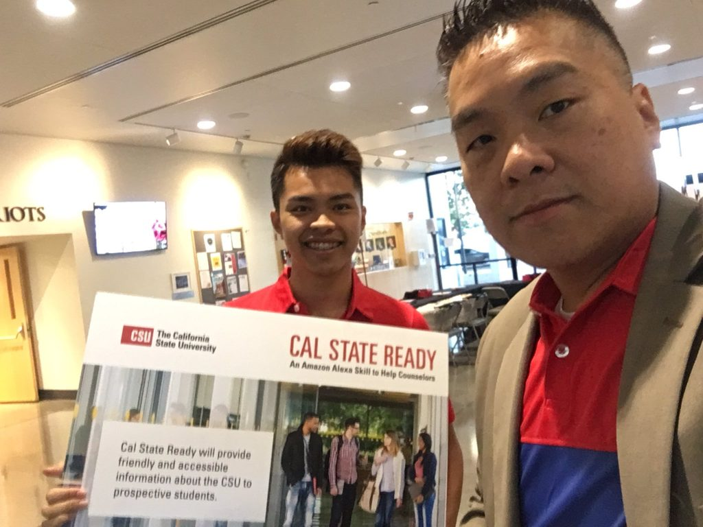 Henry Nguyen and Max Tsai holding Cal State Ready poster